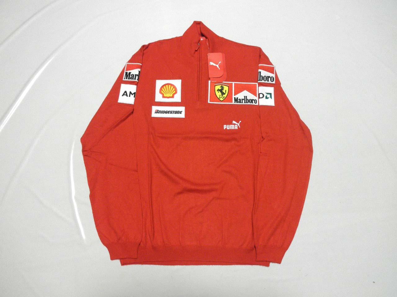 【送料無料】 フェラーリ 2009年 支給品 マルボロ タバコ版 上層部用 超高級 カシミア ハーフZIP プルオーバー セーター メンズ M new 新品 (海外直輸入 F1 非売品 グッズ)
