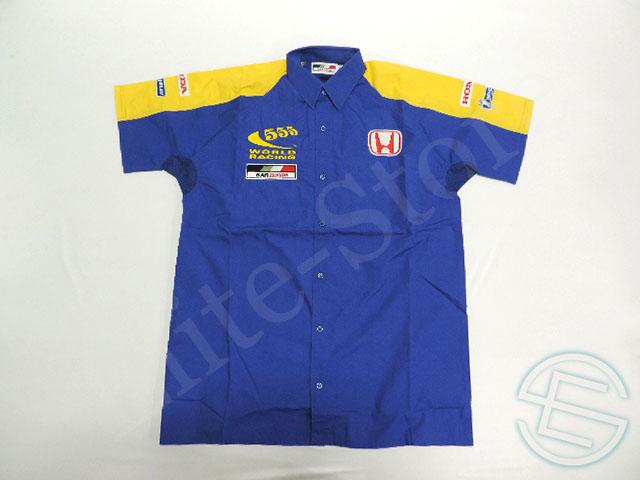 【送料無料】 BAR・ホンダ F1 2005年 中国GP限定 支給品 555ロゴ タバコ版 ピットシャツ メンズ S 4/5 (海外直輸入 F1 非売品USEDグッズ)