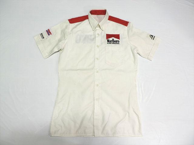 【送料無料】 マクラーレン 80年代 支給品 マルボロ版 ピットシャツ メンズ 2/5 (海外直輸入 F1 USEDグッズ)