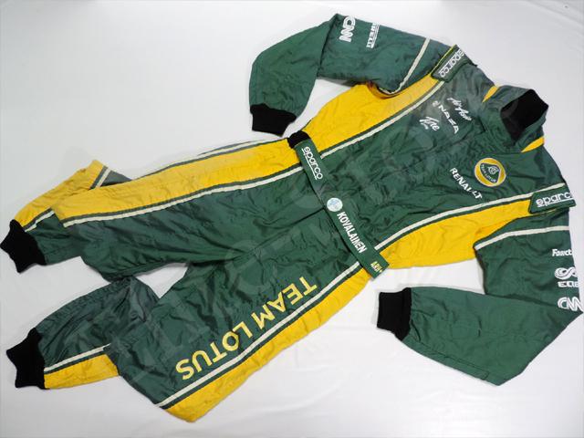 【送料無料】ヘイキ・コバライネン 2011年 チーム・ロータス 支給品 スパルコ製 実使用 レーシング スーツ(海外直輸入 F1 非売品USEDグッズ メモラビリア)