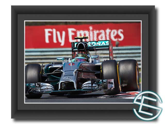 【メール便送料無料】ニコ・ロズベルグ 2014年 メルセデス F1 ハンガリーGP1 A4サイズ  生写真(海外直輸入 F1 グッズ)