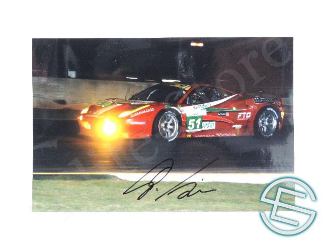 【送料無料】 ジャンカルロ・フィジケラ WEC AF・コルセ フェラーリ F458 直筆サイン入り A4サイズ 生写真(海外直輸入 F1 非売品グッズ)