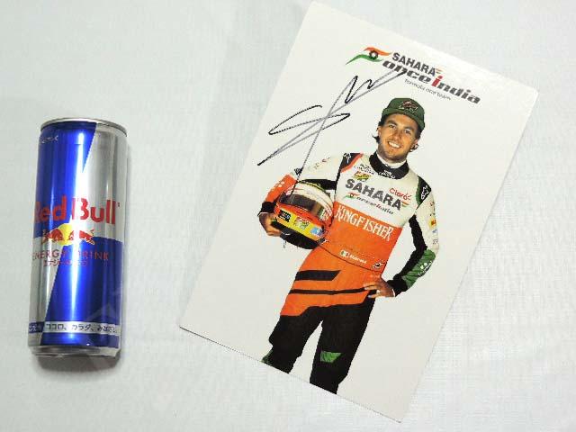 【送料無料】 セルジオ・ペレス 2014年 フォース・インディア F1 非売品 直筆サイン入り ドライバーカード (海外直輸入 F1 非売品グッズ)