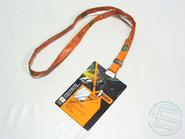 【送料無料】 シャルル・ピック 直筆サイン入り 2013年 F1 ブラジルGP 非売品 ケータハム VIP パドックパス (海外直輸入 F1 非売品USEDグッズ)