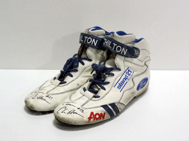【送料無料】 トム・チルトン 2012年 WTCC AON・フォード 支給品 実使用 シューズ (海外直輸入 F1 非売品USEDグッズ メモラビリア)