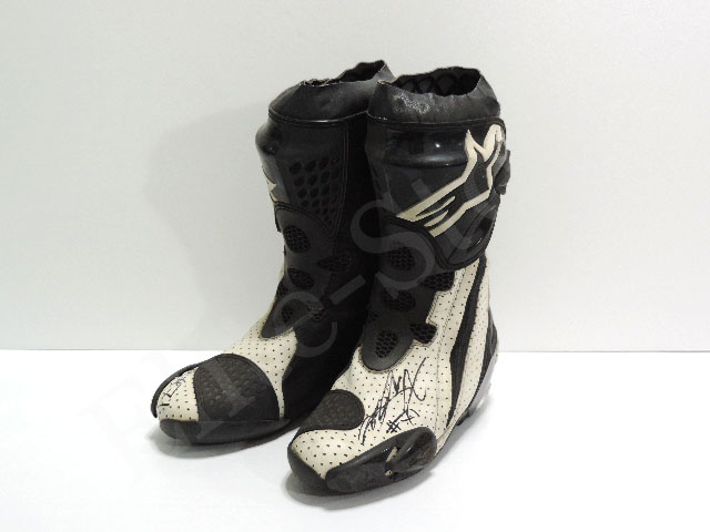 【送料無料】 小山知良 2008年 レッドブル・KTM 支給品 実使用 ブーツ w/直筆サイン (海外直輸入 非売品USEDグッズ)