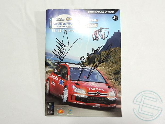 【送料無料】WRC 2007年 ラリー・フランス 直筆サイン入り カタログ (海外直輸入 WRC 非売品グッズ)