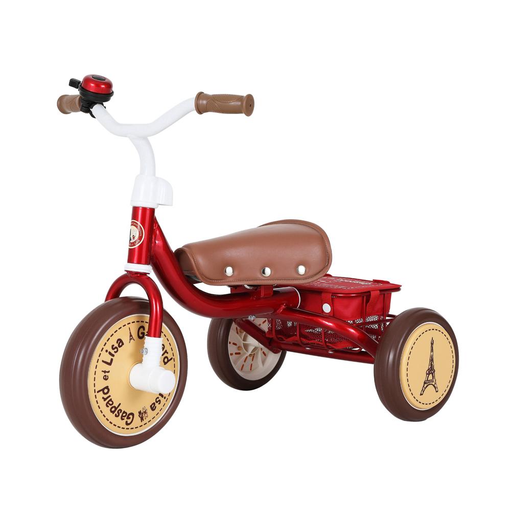 【ワイヤー錠をプレゼント】【M&M(エムアンドエム)】0218 三輪車 リサとガスパール