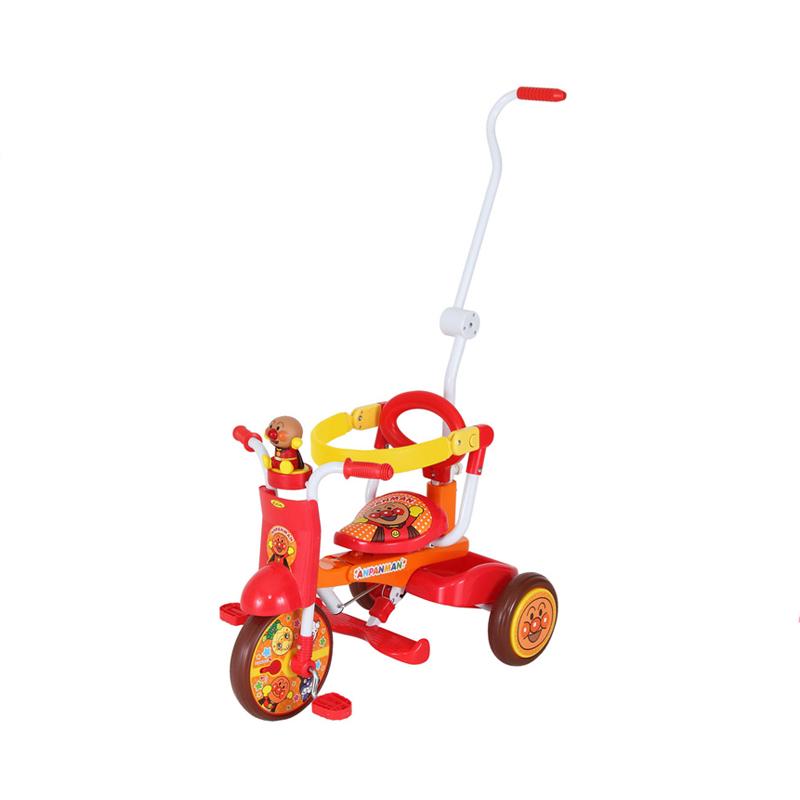 【ワイヤー錠をプレゼント】【M&M(エムアンドエム)】それいけ!アンパンマン オールインワンUP折りたたみ三輪車