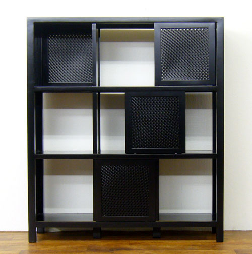 "Elmclub: ""Sazanami Lattice Shelf 3-stage Asian Furniture"