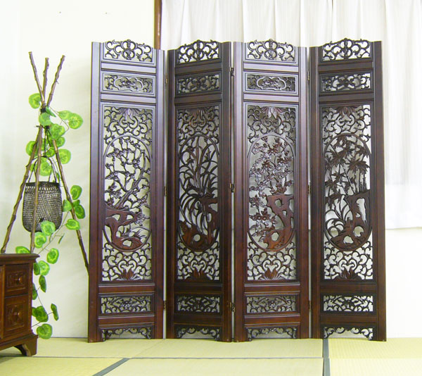 ... Balinese furniture store cheap outlets antique furniture antique  shipping embedded Japanese Chinese hand carved classic furniture 3 4  sequential sales ... - Elmclub Rakuten Global Market: Hand Carved Childes Screen Asian