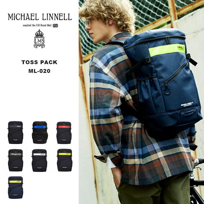 マイケルリンネル MICHAEL LINNELL リュック バックパック ML-020 リフレクター Toss Pack スクエア ボックス 鞄 デイパック 男女兼用 メンズ レディース