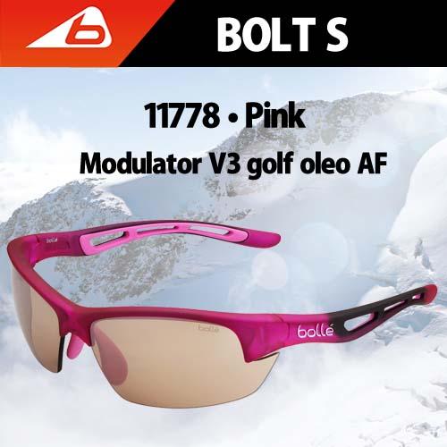 【送料無料】【bolle国内正規品】Bolt S Pink Modulator V3 Golf