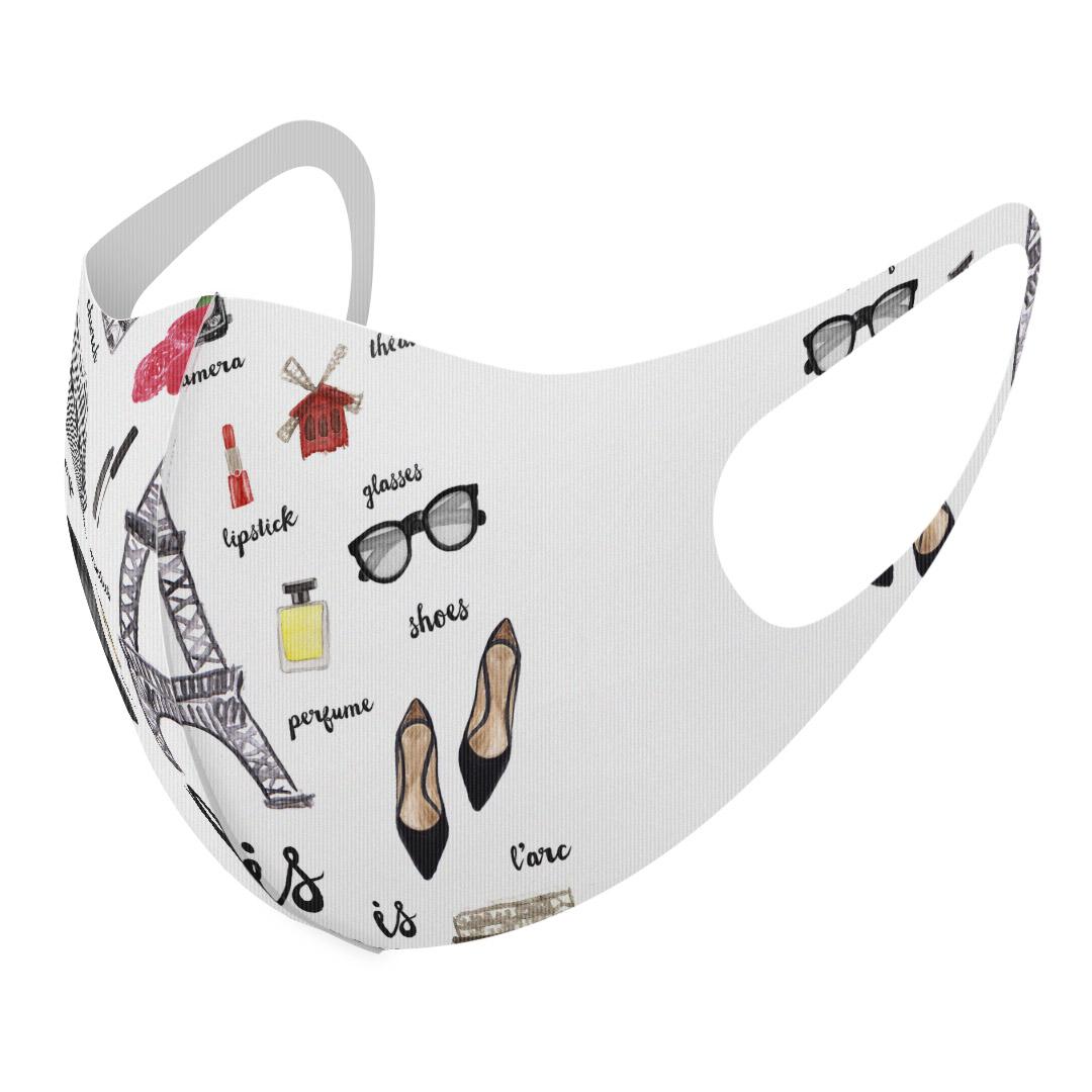 洗える デザインマスク 大人用 男性 女性 2枚セット 洗えるマスク おしゃれ 人気 ファッション ポリエステル パリ 布マスク グレー 普通 エッフェル塔 白 洗って 繰り返し使える オンライン限定商品 新作アイテム毎日更新 012218 レディース メンズ