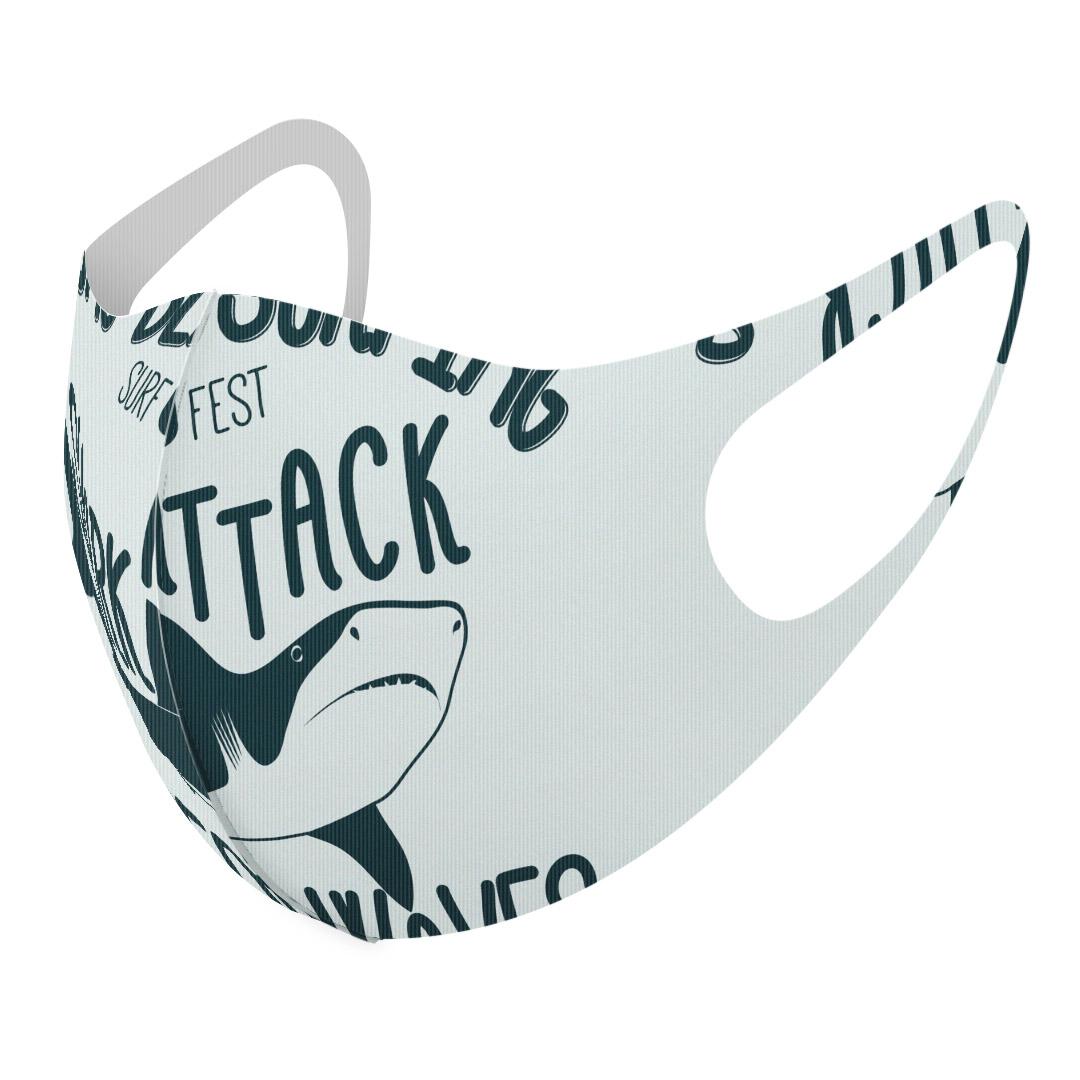 洗える デザインマスク 大人用 男性 訳あり商品 女性 2枚セット 洗えるマスク おしゃれ 人気 ファッション ポリエステル 布マスク メンズ レディース スピード対応 全国送料無料 サメ グレー 洗って 繰り返し使える 普通 白 ビーチ 英語 012452
