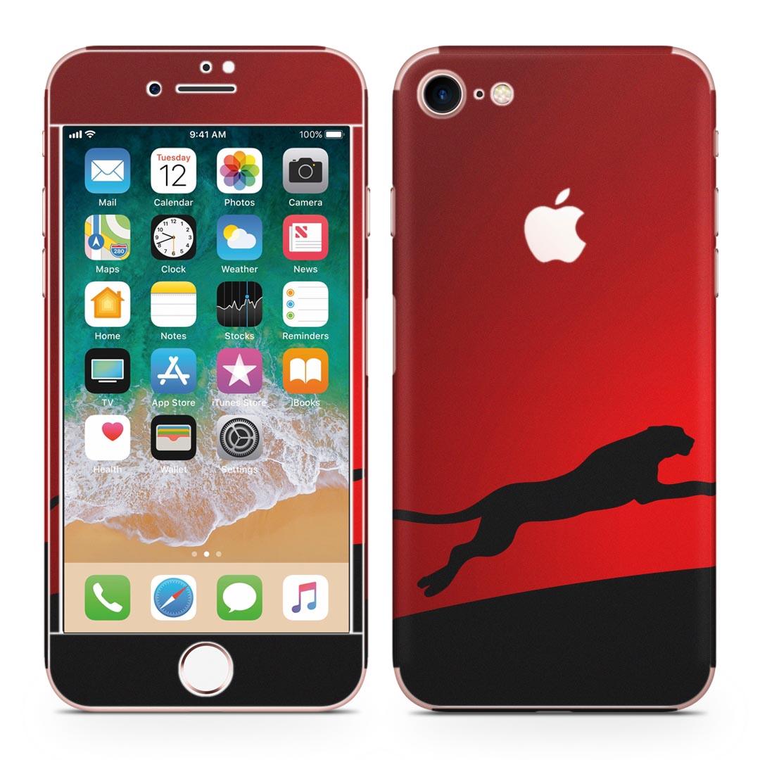 全面スキンシール ステッカー 保護シール 正面 側面 背面 スマホ スマートフォン iPhone8 対応 至上 アイフォン 期間限定の激安セール 赤 プーマ フル スマホケース 液晶 ケース 000067 ヒョウ 人気 スマホカバー