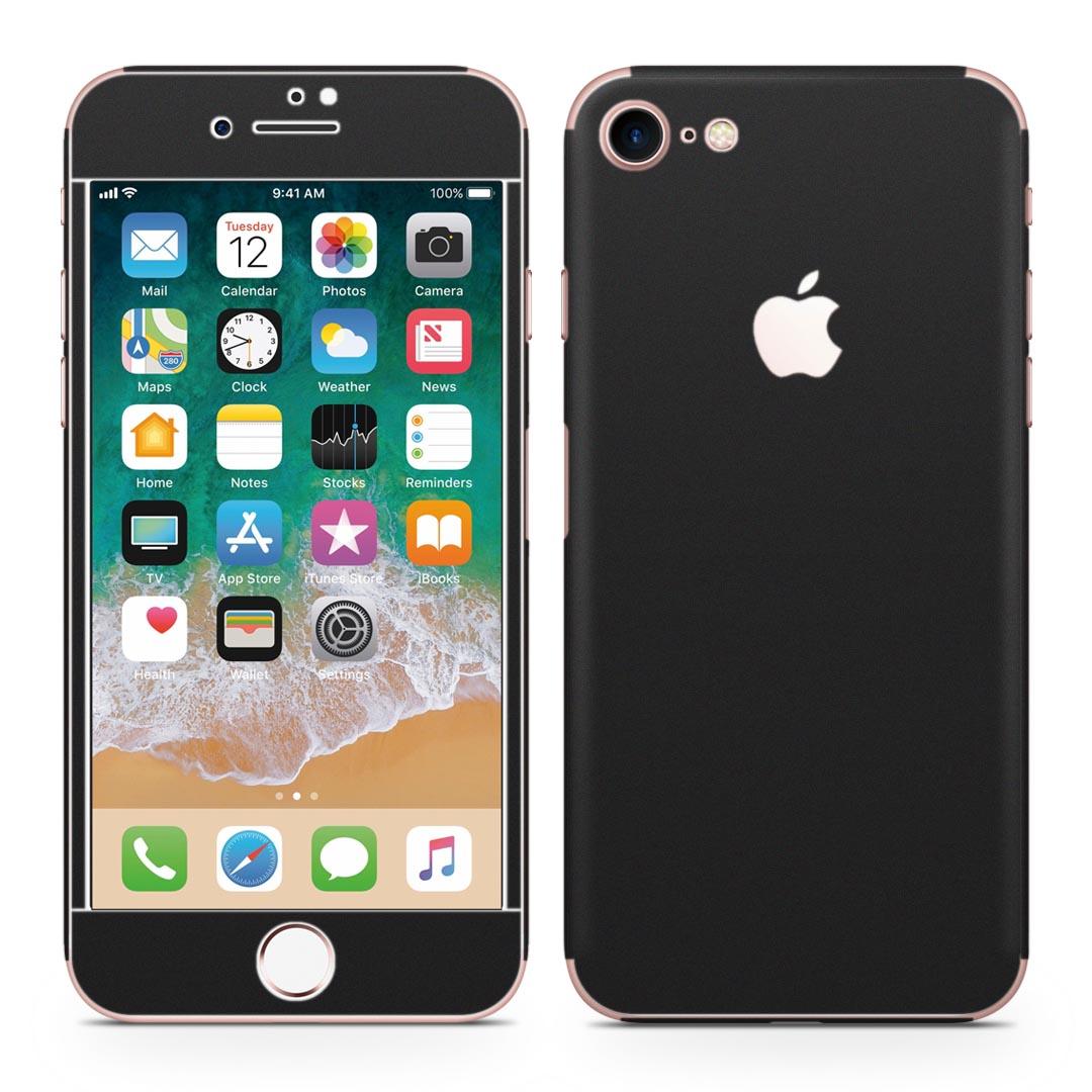 全面スキンシール ステッカー 保護シール 正面 側面 背面 スマホ スマートフォン iPhone8 日本正規代理店品 対応 アイフォン 黒 無地 液晶 スマホケース スマホカバー フル シンプル 009016 ケース 直送商品 人気