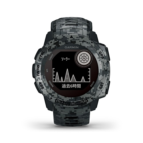 ガーミン スマートウォッチ Instinct Dual Power 010-02293-51Camo Edition Graphite Camo 【正規品】