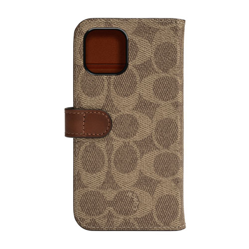 COACH CIPH-019-SCKHK WALLET CASE SIGNATURE FOLIO カーキ〔iPhone 11 Pro用〕