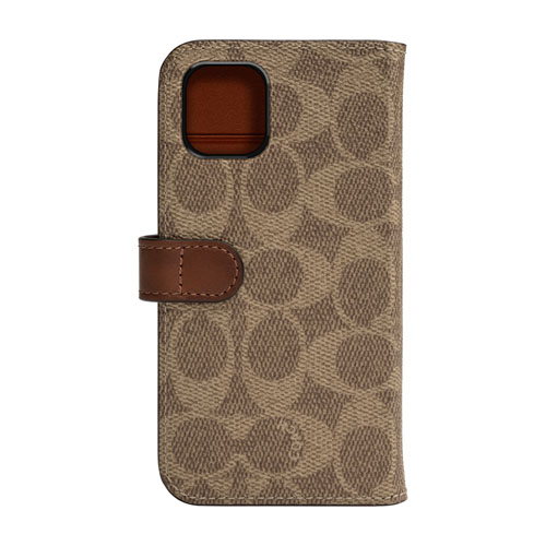 COACH CIPH-020-SCKHK WALLET CASE SIGNATURE FOLIO カーキ〔iPhone 11用〕