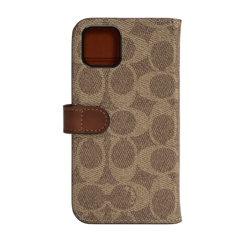 COACH CIPH-021-SCKHK WALLET CASE SIGNATURE FOLIO カーキ〔iPhone 11 Pro Max用〕