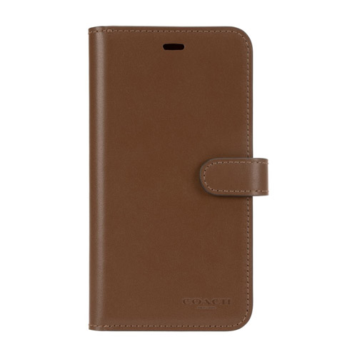 COACH CIPH-009-SDDL LEATHER WALLET CASE サドル〔iPhone 11 Pro Max用〕