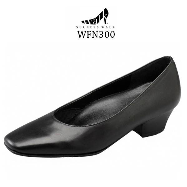 ワコール wacoal 定番スタイル サクセスウォーク success walk WFN300 トゥタイプ ビジネスパンプス スクエア 足囲C-3E ヒール3.5cm トレンド 送料無料