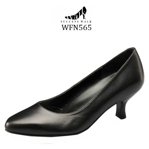 【wacoal/ワコール】【success walk/サクセスウォーク】【送料無料】WFN565 ビジネスパンプス ラウンド トゥ タイプ ヒール5cm 足囲E~2E