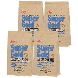 [送料無料]4個セットスーパーゴールド フィッシュ&ポテト(ダイエットライト) 体重調整用低アレルゲンフード2.4kg