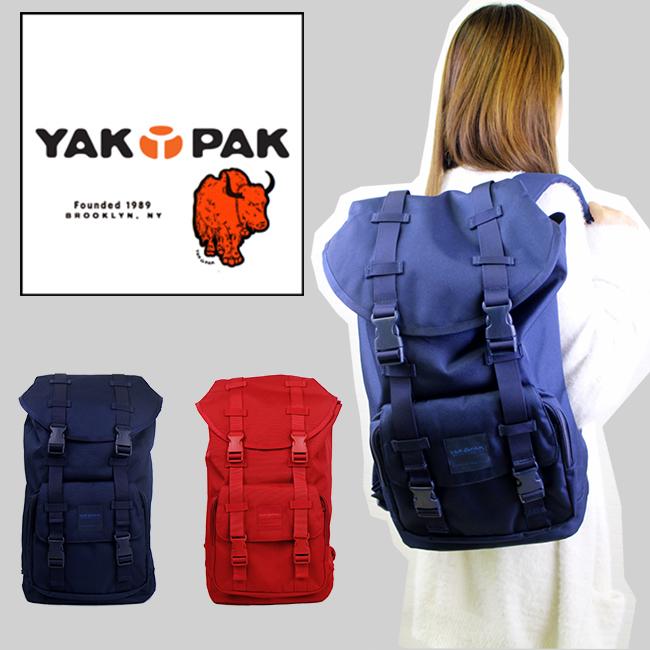 送料無料 バックパック ヤックパック リュック YP4020 大容量ユニセックス ブルックリン ニューヨーカー バッグおしゃれ 使いやすい red navy