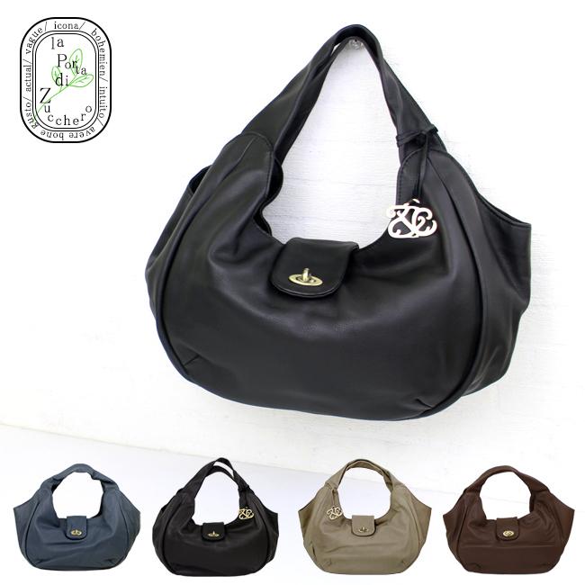 送料無料 本革ハンドバッグ ラポルタ 48879 ブラウン ネイビー チョコ グレー ブラック 黒 x9s