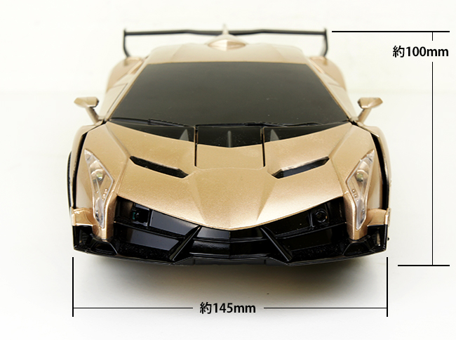/ our store original radio control super car type transformation robot  headlight sound effects engine sound sound dance mode champagne gold USB  charge
