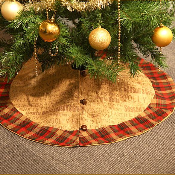 クリスマスツリー スカートom-c-3413 クリーム チェック クリスマス ツリースカートクリスマス/イルミネーション/イブ/イヴ/ツリー/ファイバー/パーティー/業務用/ギフト/プレゼント/誕生日/北欧 x9s