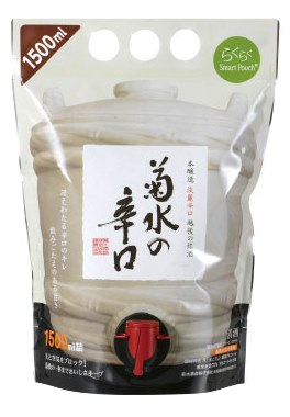 菊水の辛口スマートパウチ 1.5L 6個入り1500mlパック