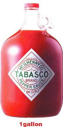 タバスコ TABASCO BRAND PEPPER SAUCE 1gallon 3.8L入り 4本入り1ガロン 3800ml22kg
