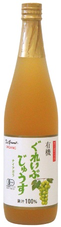 710ml瓶 12本入り果汁100% アルプス オーガニック有機ぐれいぷじゅうすナイアガラ