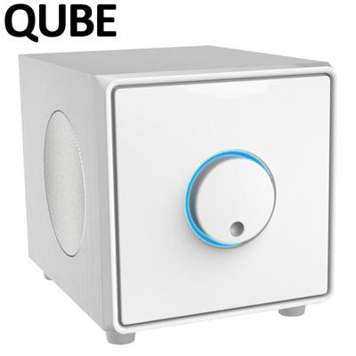 【キャッシュレス5%還元店】【返品OK!条件付】QUBE 2.1ch アンプ内蔵 Bluetoothスピーカー DAS19BT-W ホワイト【KK9N0D18P】【80サイズ】