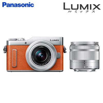 【返品OK!条件付】パナソニック ミラーレス一眼カメラ ルミックス Gシリーズ LUMIX GF ダブルズームレンズキット DC-GF10WA-D オレンジ【KK9N0D18P】【80サイズ】