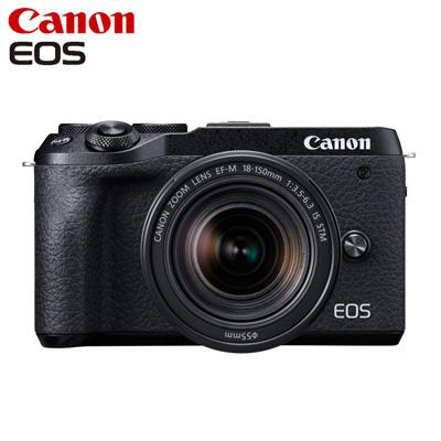 【返品OK!条件付】Canon キヤノン ミラーレス一眼カメラ EOS M6 Mark II EF-M18-150 IS STM レンズキット EOSM6MK2BK-18150STM ブラック【KK9N0D18P】【80サイズ】