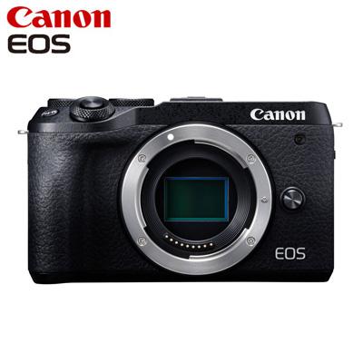 【返品OK!条件付】Canon キヤノン ミラーレス一眼カメラ EOS M6 Mark II ボディー EOSM6MK2BK-BODY ブラック【KK9N0D18P】【80サイズ】