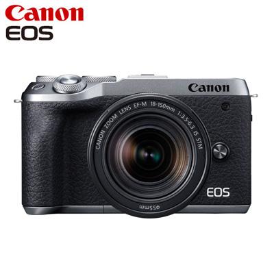 【返品OK!条件付】Canon キヤノン ミラーレス一眼カメラ EOS M6 Mark II EF-M18-150 IS STM レンズキット EOSM6MK2SL-18150STM シルバー【KK9N0D18P】【80サイズ】