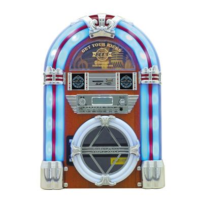 安心の30日以内返品OK 条件付 世界の人気ブランド 返品OK BOOS ジュークボックス風 音楽プレイヤー ミュージックボックス KK9N0D18P CDプレイヤー ホワイト 日本産 HNB-MX2500-WH ホノベ電機 100サイズ