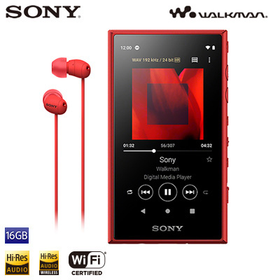 【返品OK!条件付】ソニー ウォークマン Aシリーズ NW-A100シリーズ 16GB NW-A105HN-R レッド SONY WALKMAN【KK9N0D18P】【60サイズ】