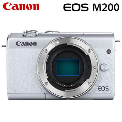 【キャッシュレス5%還元店】【返品OK!条件付】キヤノン ミラーレス一眼 EOS M200 ボディー デジタルカメラ EOSM200WH-BODY ホワイト 3700C001 Canon【KK9N0D18P】【80サイズ】