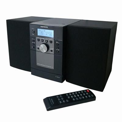 【キャッシュレス5%還元店】【返品OK!条件付】ウィンテック CDラジオカセットコンポ KMC-113 ブラック WINTECH【KK9N0D18P】【100サイズ】