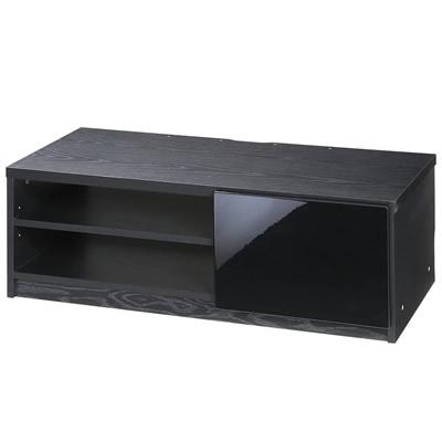 【キャッシュレス5%還元店】【返品OK!条件付】背面収納TVボード ロビン 幅85cm M0600062-BK マストバイ【KK9N0D18P】【180サイズ】