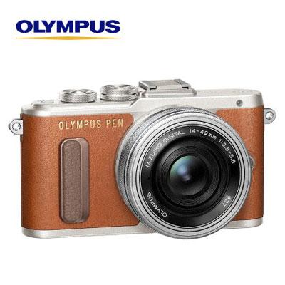 【返品OK!条件付】OLYMPUS ミラーレス一眼カメラ PEN E-PL8 14-42mm EZ レンズキット オリンパス ブラウン E-PL8-EZ-LK-Tファッションのようにコーディネートしたいおしゃれカメラ クラシック&レトロ モード ヴィンテージ 【KK9N0D18P】【120サイズ】