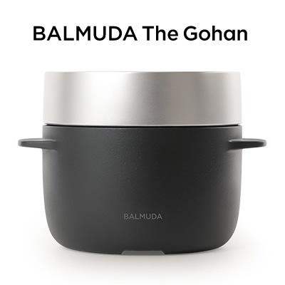 【即納】【返品OK!条件付】バルミューダ 3合炊き 電気炊飯器 BALMUDA The Gohan バルミューダ ザ・ゴハン ブラック K03A-BK【KK9N0D18P】【120サイズ】