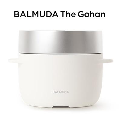 【即納】【返品OK!条件付】バルミューダ 3合炊き 電気炊飯器 BALMUDA The Gohan バルミューダ ザ・ゴハン ホワイト K03A-WH【KK9N0D18P】【120サイズ】