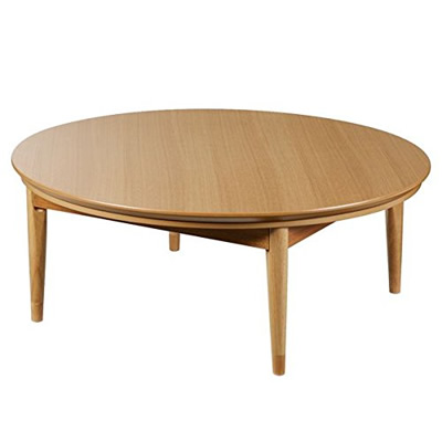 【返品OK!条件付】北欧デザインこたつテーブル コンフィ 120cm丸型 こたつ 北欧 円形 日本製 国産 マストバイ ナチュラル 11100332-naリビングテーブル センターテーブル 寝室 ワンルーム 木目調 高さ調節【240サイズ】